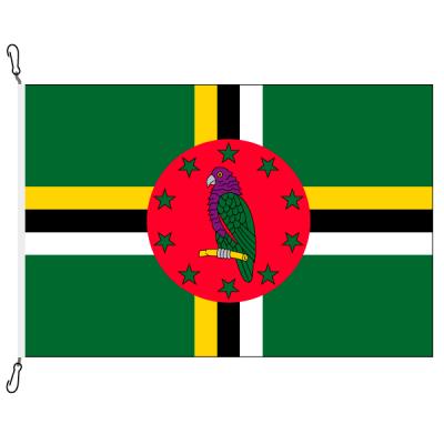 Fahne, Nation bedruckt, Dominica, 70 x 100 cm