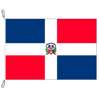 Fahne, Nation bedruckt, Dominikanische Republik, 150 x 225 cm