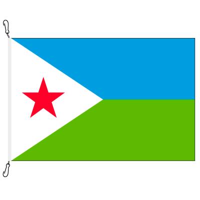 Fahne, Nation bedruckt, Dschibuti, 70 x 100 cm