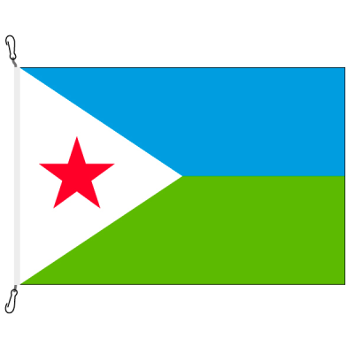 Fahne, Nation bedruckt, Dschibuti, 100 x 150 cm