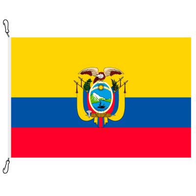 Fahne, Nation bedruckt, Ecuador, 70 x 100 cm