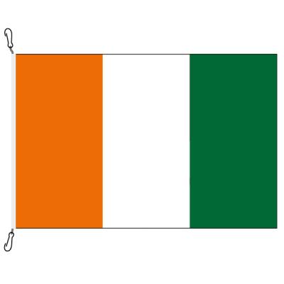 Fahne, Nation bedruckt, Elfenbeinküste, 70 x 100 cm