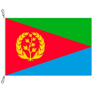 Fahne, Nation bedruckt, Eritrea, 70 x 100 cm
