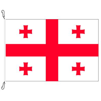 Fahne, Nation bedruckt, Georgien, 70 x 100 cm