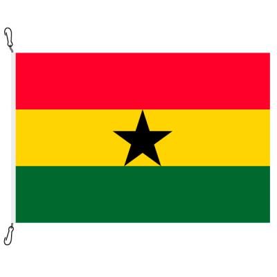 Fahne, Nation bedruckt, Ghana, 70 x 100 cm