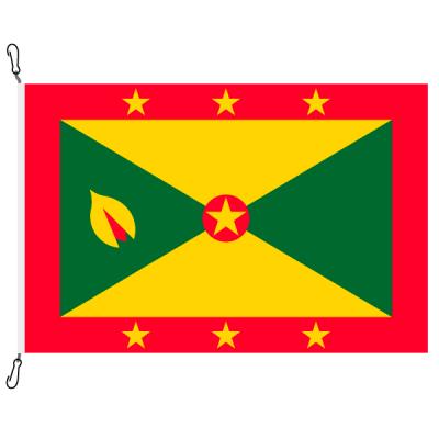 Fahne, Nation bedruckt, Grenada, 70 x 100 cm