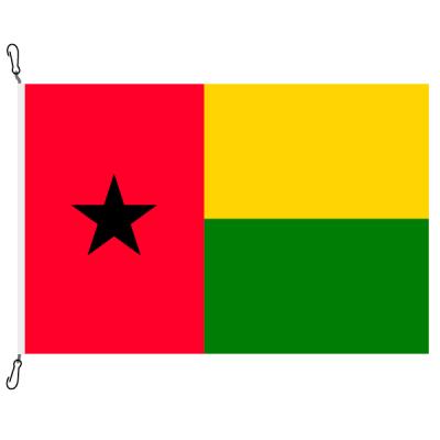 Fahne, Nation bedruckt, Guinea-Bissau, 70 x 100 cm