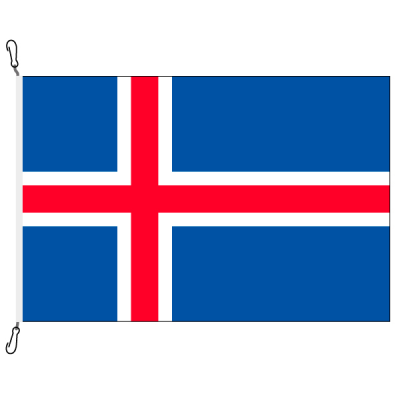 Fahne, Nation bedruckt, Island, 70 x 100 cm