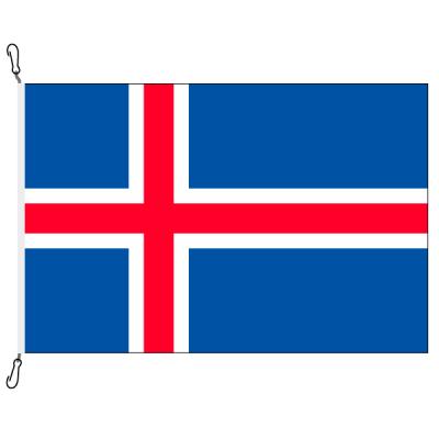 Fahne, Nation bedruckt, Island, 100 x 150 cm