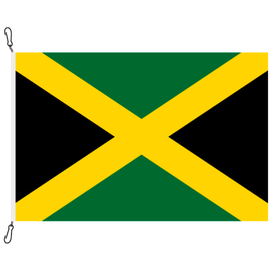 Fahne, Nation bedruckt, Jamaika, 70 x 100 cm