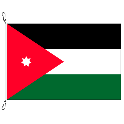 Fahne, Nation bedruckt, Jordanien, 100 x 150 cm