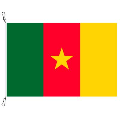 Fahne, Nation bedruckt, Kamerun, 70 x 100 cm