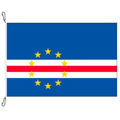 Fahne, Nation bedruckt, Kap Verde, 70 x 100 cm