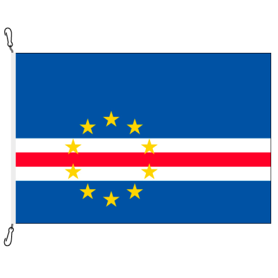 Fahne, Nation bedruckt, Kap Verde, 150 x 225 cm
