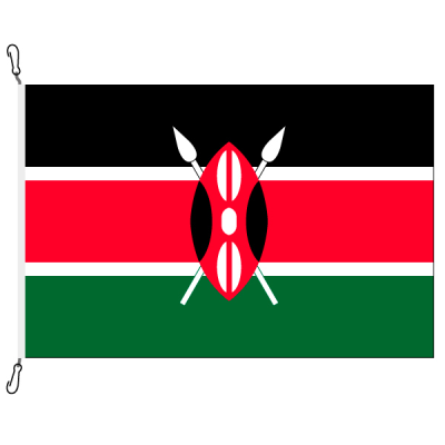 Fahne, Nation bedruckt, Kenia, 70 x 100 cm