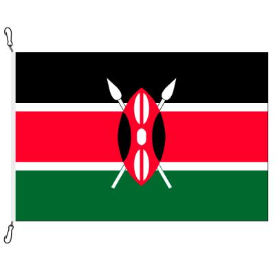 Fahne, Nation bedruckt, Kenia, 100 x 150 cm
