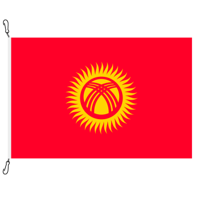 Fahne, Nation bedruckt, Kirgistan, 100 x 150 cm