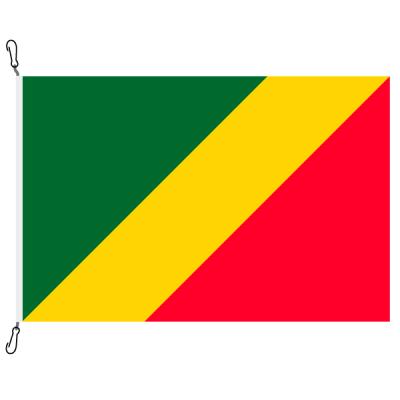 Fahne, Nation bedruckt, Republik Kongo, 70 x 100 cm