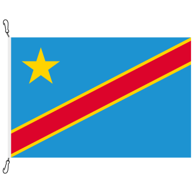 Fahne, Nation bedruckt, Demokratische Republik Kongo, 200 x 300 cm