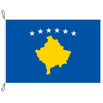 Fahne, Nation bedruckt, Kosovo, 70 x 100 cm