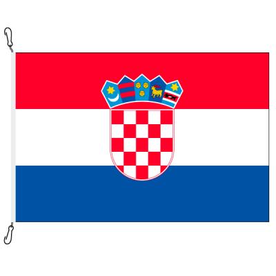 Fahne, Nation bedruckt, Kroatien, 70 x 100 cm