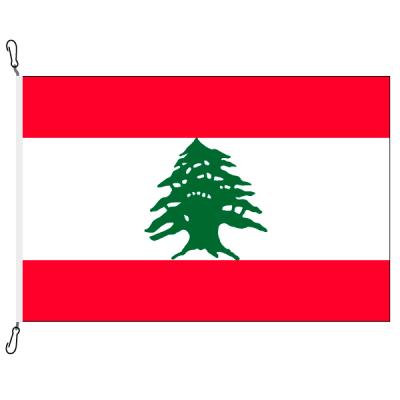 Fahne, Nation bedruckt, Libanon, 70 x 100 cm
