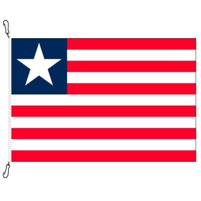Fahne, Nation bedruckt, Liberia, 70 x 100 cm