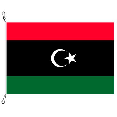 Fahne, Nation bedruckt, Libyen, 70 x 100 cm