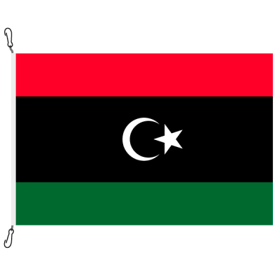Fahne, Nation bedruckt, Libyen, 150 x 225 cm