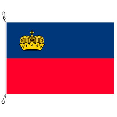 Fahne, Nation bedruckt, Liechtenstein, 70 x 100 cm