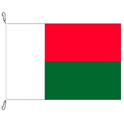 Fahne, Nation bedruckt, Madagaskar, 70 x 100 cm