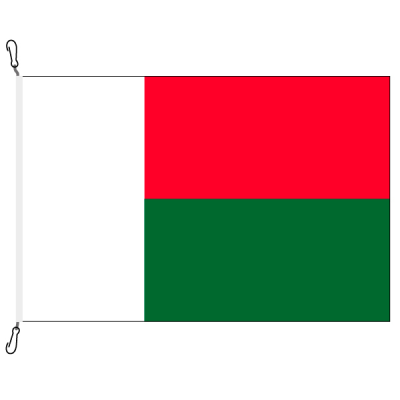 Fahne, Nation bedruckt, Madagaskar, 100 x 150 cm