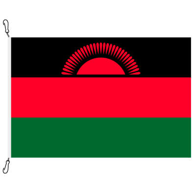 Fahne, Nation bedruckt, Malawi, 200 x 300 cm