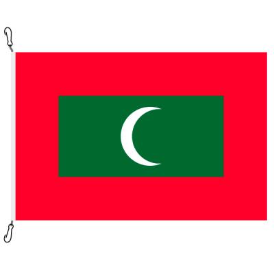 Fahne, Nation bedruckt, Malediven, 70 x 100 cm