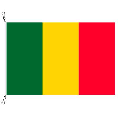 Fahne, Nation bedruckt, Mali, 70 x 100 cm