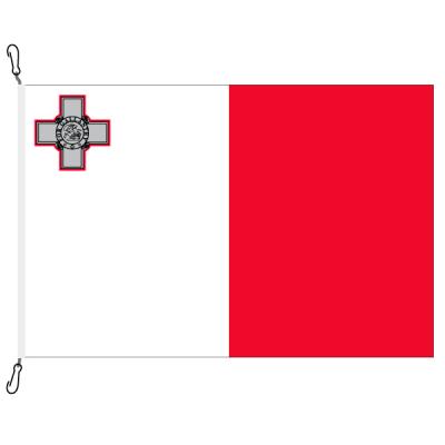 Fahne, Nation bedruckt, Malta, 70 x 100 cm