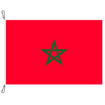 Fahne, Nation bedruckt, Marokko, 70 x 100 cm