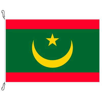 Fahne, Nation bedruckt, Mauretanien, 70 x 100 cm