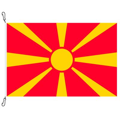Fahne, Nation bedruckt, Mazedonien, 150 x 225 cm