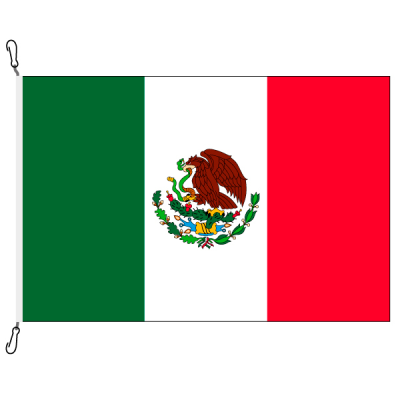 Fahne, Nation bedruckt, Mexiko, 70 x 100 cm