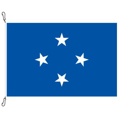 Fahne, Nation bedruckt, Mikronesien, 70 x 100 cm