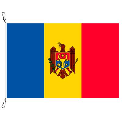 Fahne, Nation bedruckt, Moldawien, 70 x 100 cm