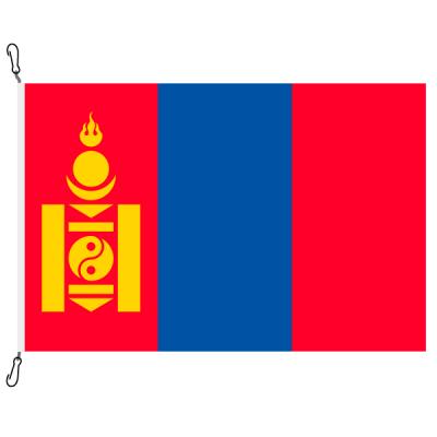Fahne, Nation bedruckt, Mongolei, 70 x 100 cm