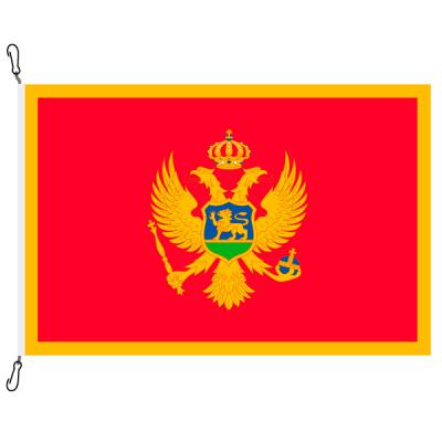 Fahne, Nation bedruckt, Montenegro, 70 x 100 cm