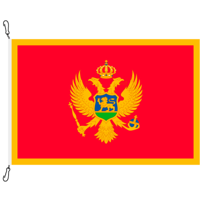 Fahne, Nation bedruckt, Montenegro, 100 x 150 cm
