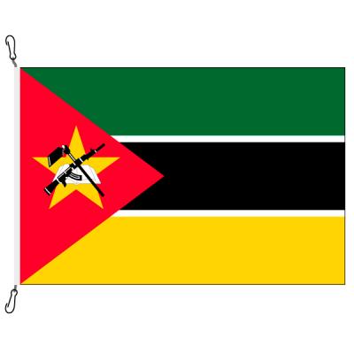 Fahne, Nation bedruckt, Mosambik, 70 x 100 cm