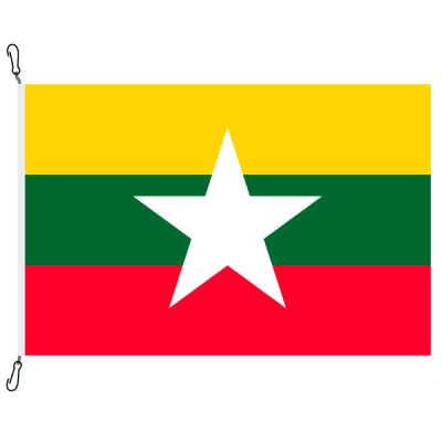 Fahne, Nation bedruckt, Myanmar, 70 x 100 cm