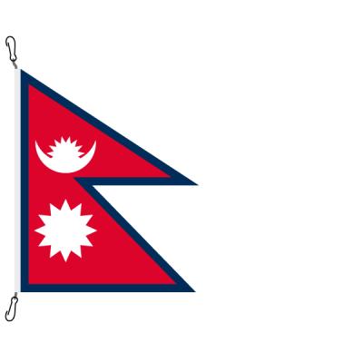 Fahne, Nation bedruckt, Nepal, 100 x 80 cm