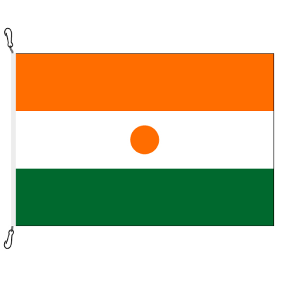 Fahne, Nation bedruckt, Niger, 150 x 225 cm