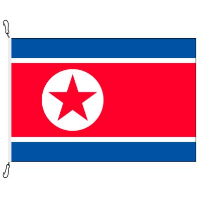 Fahne, Nation bedruckt, Nordkorea, 100 x 150 cm
